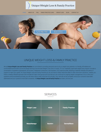 unique weight loss full page design